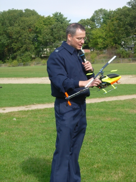 Captain Harding Flies an RC Helicopter