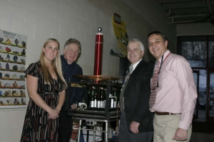 Ms. Pavlicek, Dave Luther, Dr. Lyons and John Papadonis demonstraed the Science Center's famous Tesla Coil