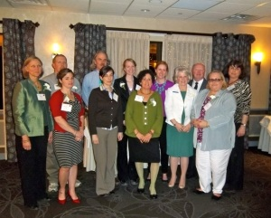 Mrs. Jaffe and the 2012 class of exemplary science teachers.