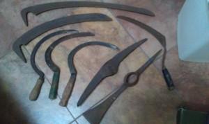 Antique garden tools