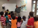 Norm Lavigne from the Burlington Public Works taught our stuents about Burlington watersheds before giving a tour of the Mill Pond treatment facility.