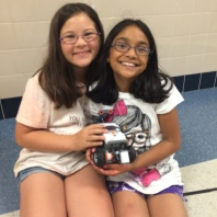 Students from this past summer's robotics program.