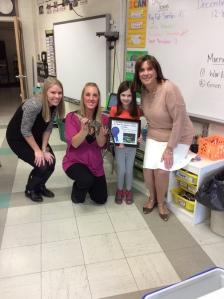 Teacher Mrs. Stone, Ms. Pavlicek Science Center, Bridget Boermeester, Principal Ellen Johnson